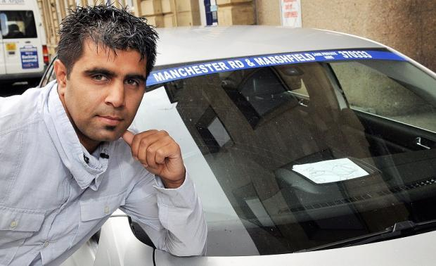 Khurram Shehzad fears for the future of his taxi business