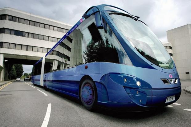 One of the state-of-the-art buses which will run between Bradford and Leeds
