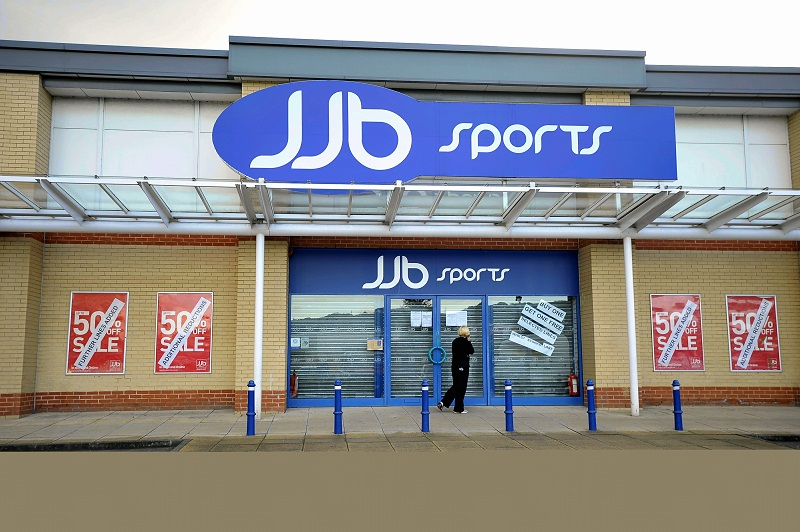 The closed JJB sports store on Hard Ings Road, Keighley