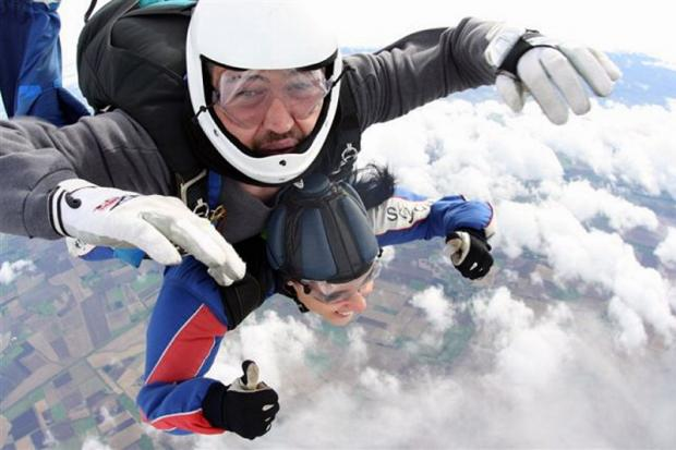 Gemma Akram during her skydive