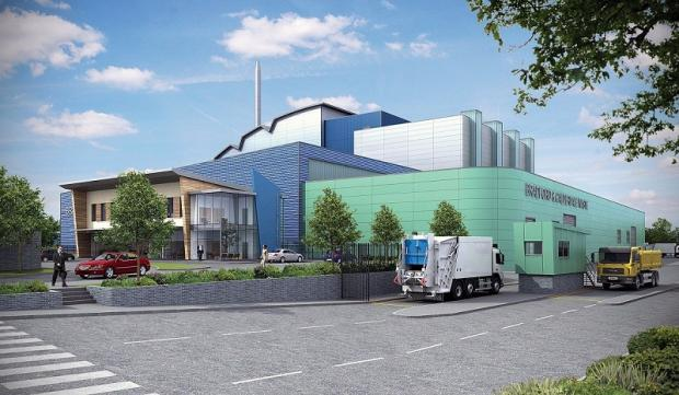 An artist's impression of the proposed waste processing plant