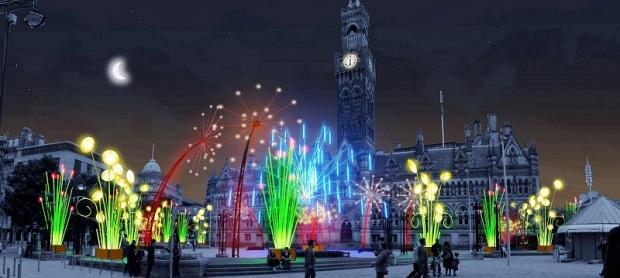 Bradford City Park to be transformed into a Garden of Light tonight