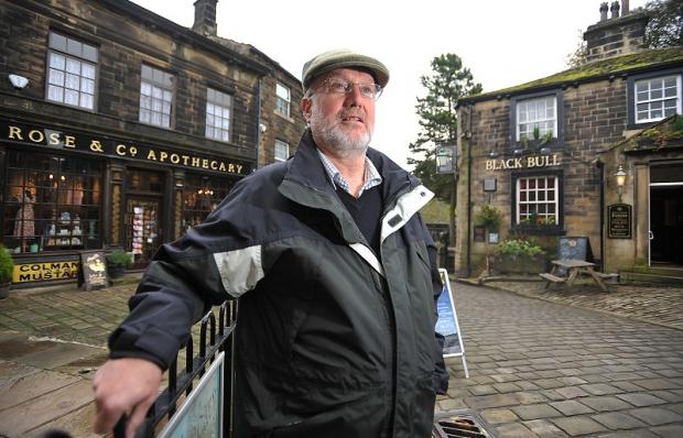 Haworth Parish Council chairman John Huxley in the village conservation area