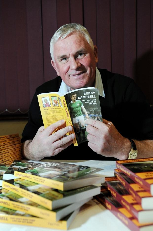 Bradford City's record goal-scorer Bobby Campbell returned to Valley Parade to mark the publication of a new book about his career