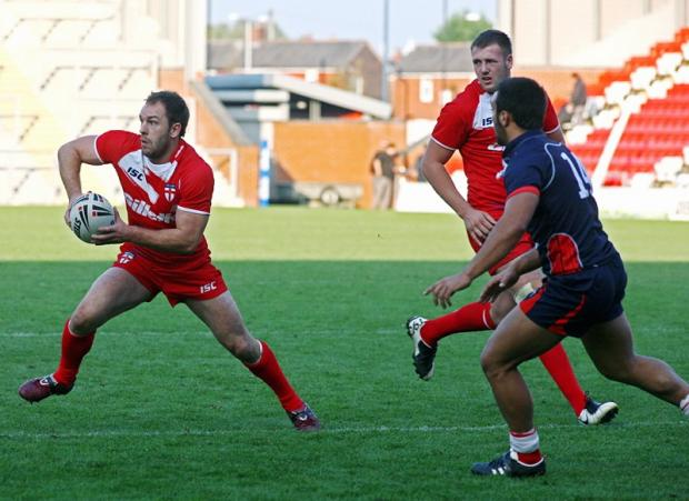Bulls scrum half Luke Gale in action for England Knights last season