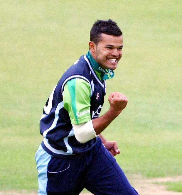 TOP PERFORMER: Azeem Rafiq was Yorkshire's stand-out bowler against Mumbai