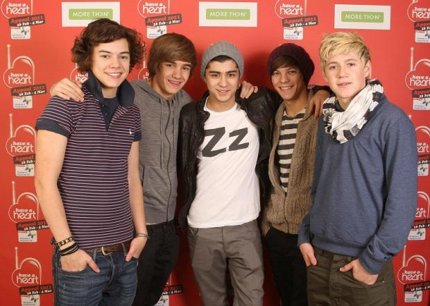 Zayn Malik (centre) with One Direction