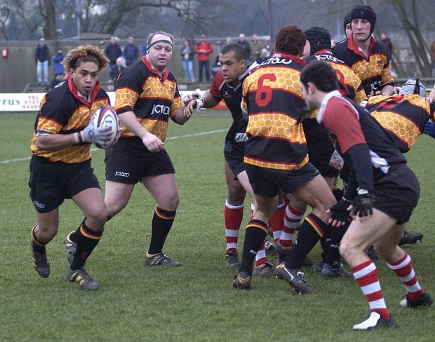 Former Bradford & Bingley prop Ronnie Kelly, second from left, is now picking their team after the departure of director of rugby Colin Stephens