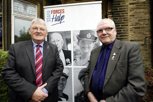 Dedicated: Phil Kendall, right, Keighley divisional secretary for the SSAFA Forces Help group, with West Yorkshire acting county secretary Bob Holt