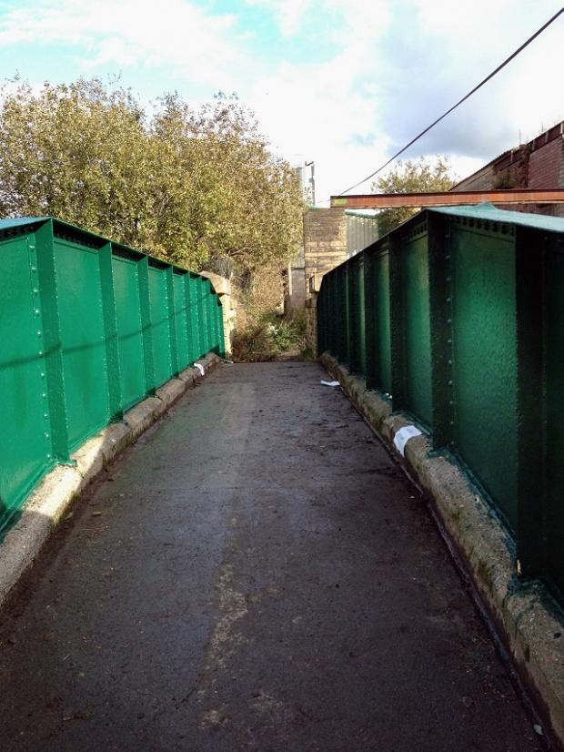 The footbridge at Dalcross Grove after the young offenders' clean-up