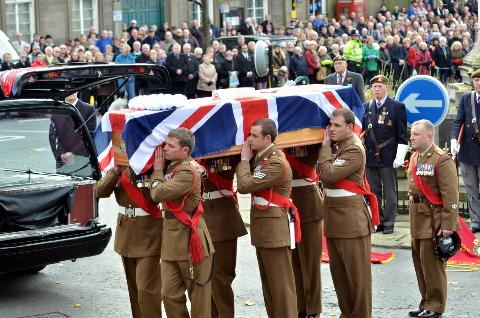 Thousands line the streets in tribute to soldier Gareth Thursby
