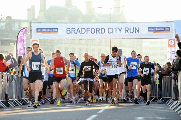 Participants in last year's Bradford City Run set off