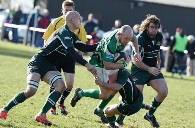 ON THE CHARGE: Dale's Steve Graham runs at Ealing's defence