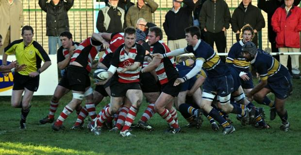Try-scoring 'machine' Richard Piper (with ball) touched down again for Cleckheaton
