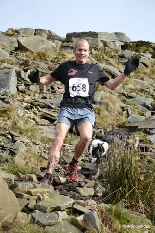 Ian Holmes descends Great Whernside  Picture: Dave Woodhead