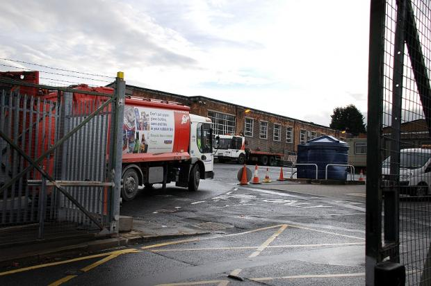 The Shearbridge Road depot where the leak occurred
