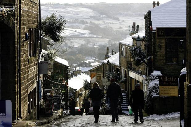 Haworth Main Street where the market is traditionally held