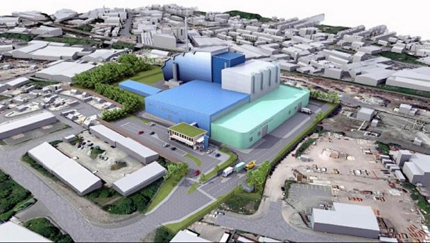An artist impression of what the Pennine Resource Recovery plant should look like