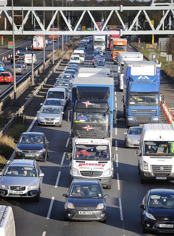 Miles of queues on the M62 have become a familiar site