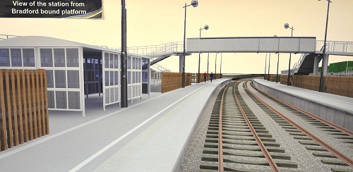 CURVED: An artist's impression of Low Moor Station