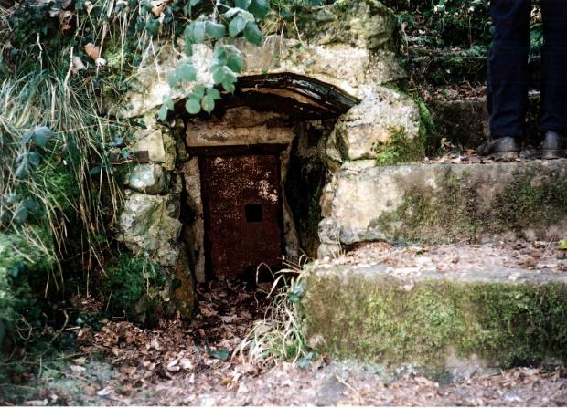 A strange door in the rocks along the route at Bonsall