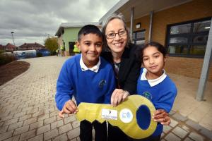 Official hand-over for £3m extension at Horton Park Primary School, Canterbury