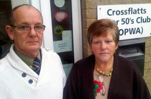 Secretary Harry Lowther, and Susan Rhodes, chairman of the Crossflatts Over 50's Club