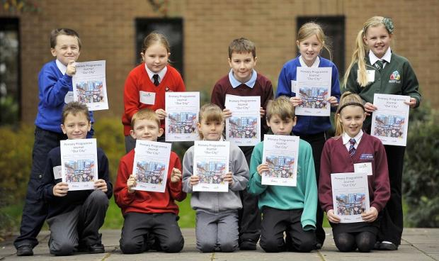 PROUD: The Year Five students from ten primary schools took part in an enterprise activity