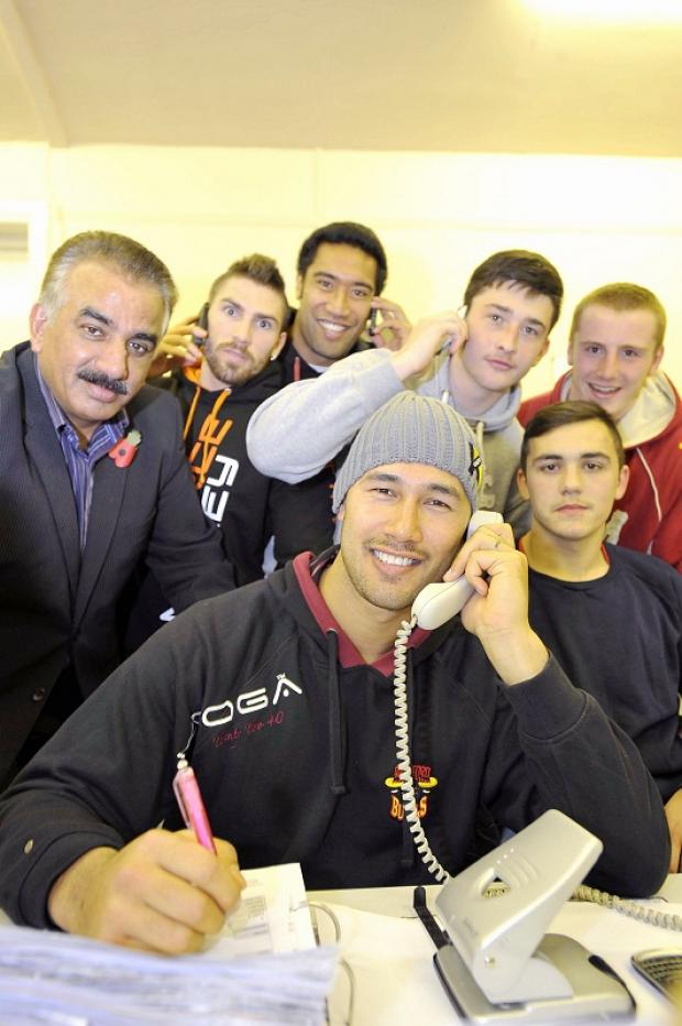 Bradford Telegraph and Argus: Players lend a helping hand