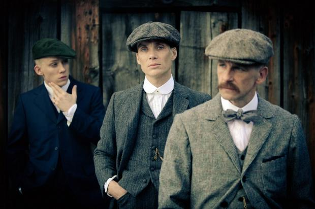 Cillian Murphy (centre) stars with Sam Neill in Peaky Blinders, being filmed in the Bradford District