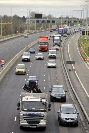The M62 gets back to normal yesterday