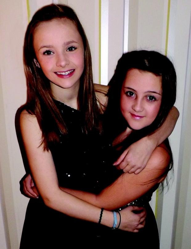 Gracie Spandler and Briony Farr, both 12