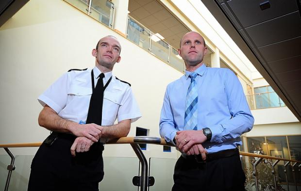 Superintendent Scott Bisset (left) and Detective Chief Inspector Peter Craig