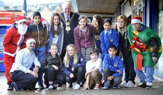 EAGER: Bradford's Lord Mayor Dale Smith at the official launch of the Youthful Creations project