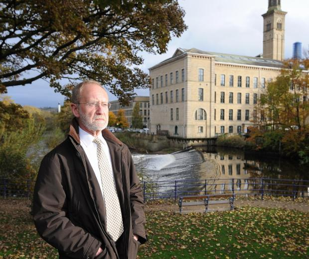 Saltaire History Club member Dave Shaw at the site