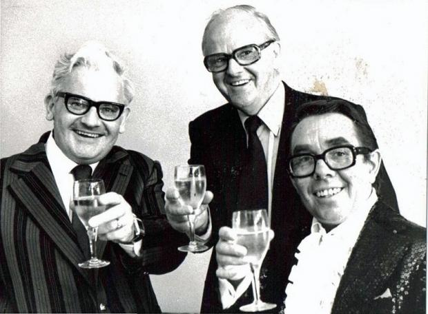 Peter Maxwell Bedford with Ronnie Barker and Ronnie Corbett