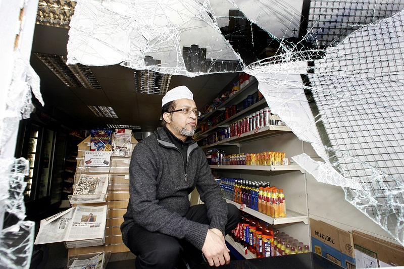Abul Barkat in his shop