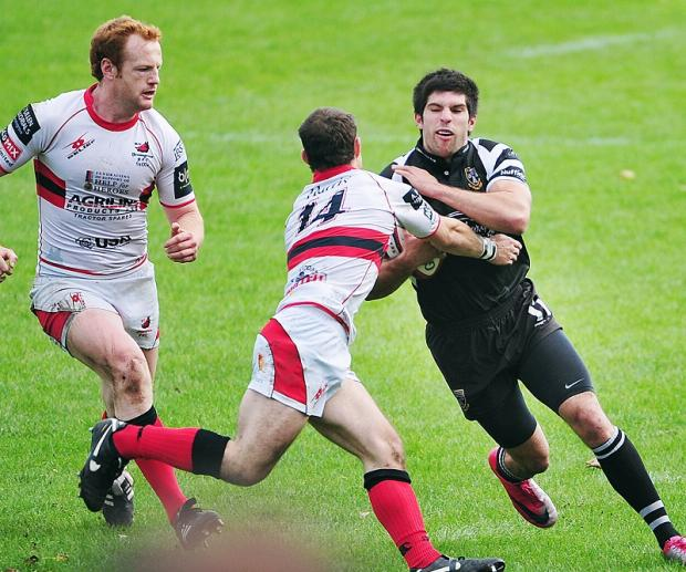 James Wood scored two tries in Otley's narrow victory