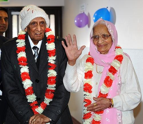 BIG-HEARTED: The family of Mrs Kartari Chand, who is 100, and her husband Karam, who has just turned 107, held a joint birthday party over the weekend and are holding a collection during the rest of the week for the T&A appeal