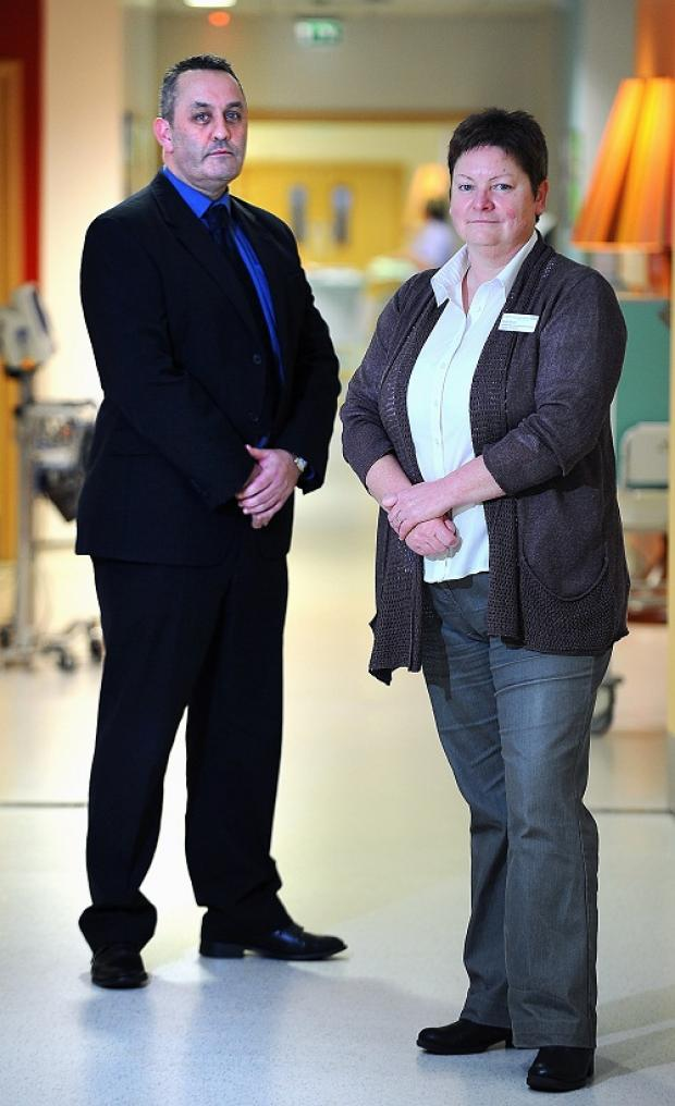 Det Sgt Andy McGrath and NHS worker Ruth Dixon are raising awareness of the home 'surgery' that can put girls' lives at risk