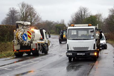 Motorists disrupted as floodwater causes road closure