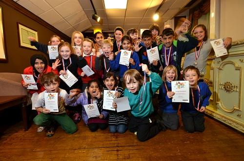 THRILLED: Youngsters from across the city enjoyed a fabulous awards night to mark the success of this year's summer reading project. Pictures by Anthony Macmillan