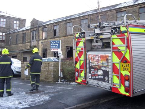 Firefighters tackle Haworth mill blaze