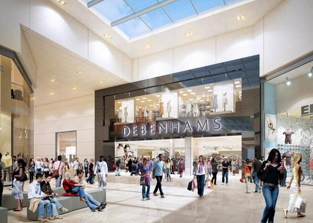 An artist's impression of the Debenhams store