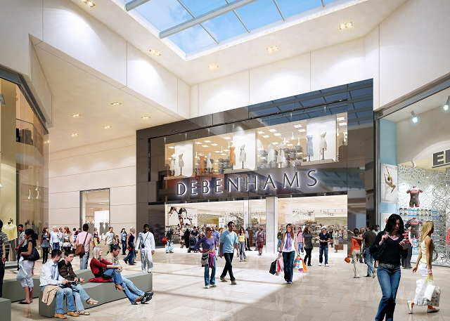 Artist's impression of the Debenhams store at the long-awaited Westfield shopping centre