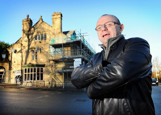 Landlord Stuart Carr outside the historic Park pub