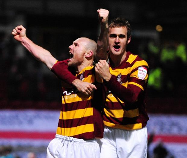 PICTURE OF HAPPINESS: There are more smiles than sad faces after games at Valley Parade since Phil Parkinson took over