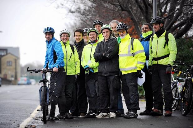 A group from the Bikeability scheme, which teaches cycling safety and builds confidence on the roads