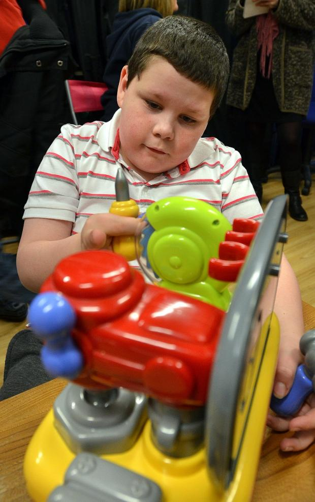 Nathan Allen, nine, one of the users of the toy library
