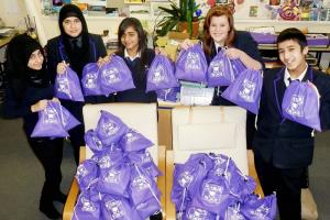 Students at Dixons Allerton Academy help the homeless